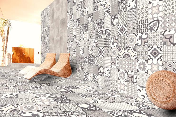 Porcelanato tipo mosaico 60x60: Paredes y pisos de estilo  por Kavana Revestimientos