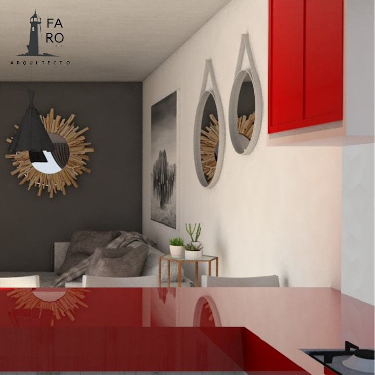 Cocinas equipadas de estilo  por FARO 105 Arquitectos,