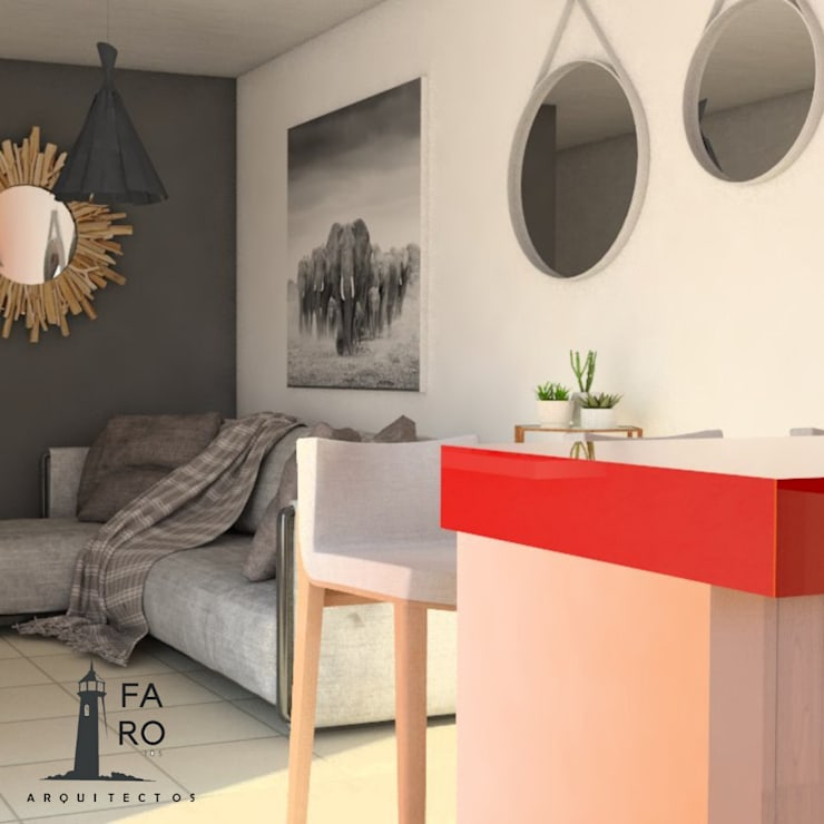 Salas / recibidores de estilo  por FARO 105 Arquitectos,