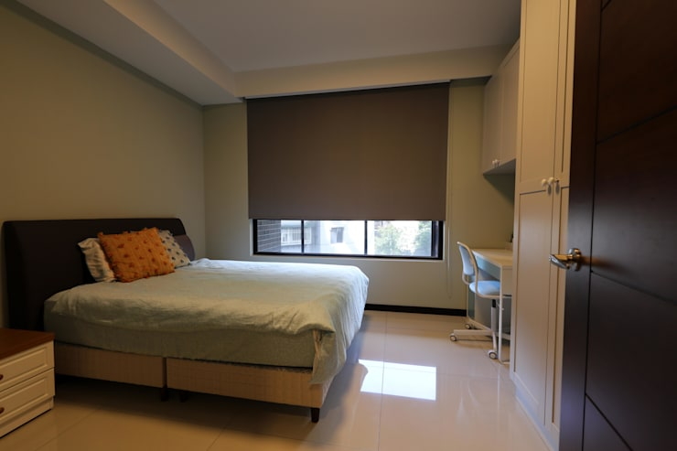 女兒房:  臥室 by 果仁室內裝修設計有限公司