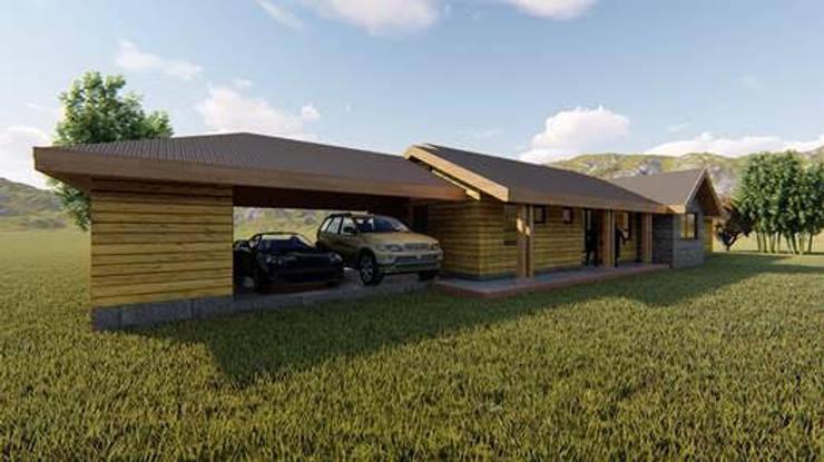 Proyecto Casa KM por CIVCO: Casas unifamiliares de estilo  por Civco Ltda