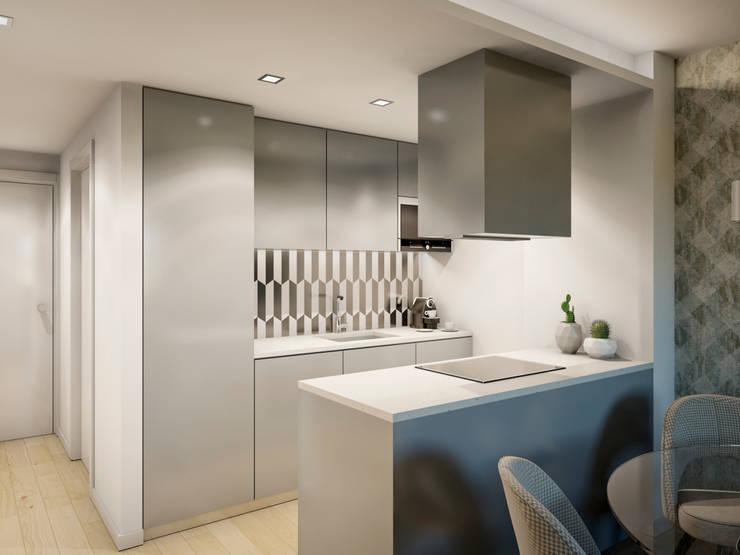 Cozinha elegante e funcional: Armários de cozinha  por Alma Braguesa Furniture
