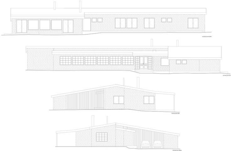 Elevaciones Arquitectura:  de estilo  por RENOarq