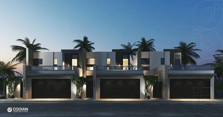 Proyecto Chapultepec II: Casas de estilo  por CODIAN CONSTRUCTORA