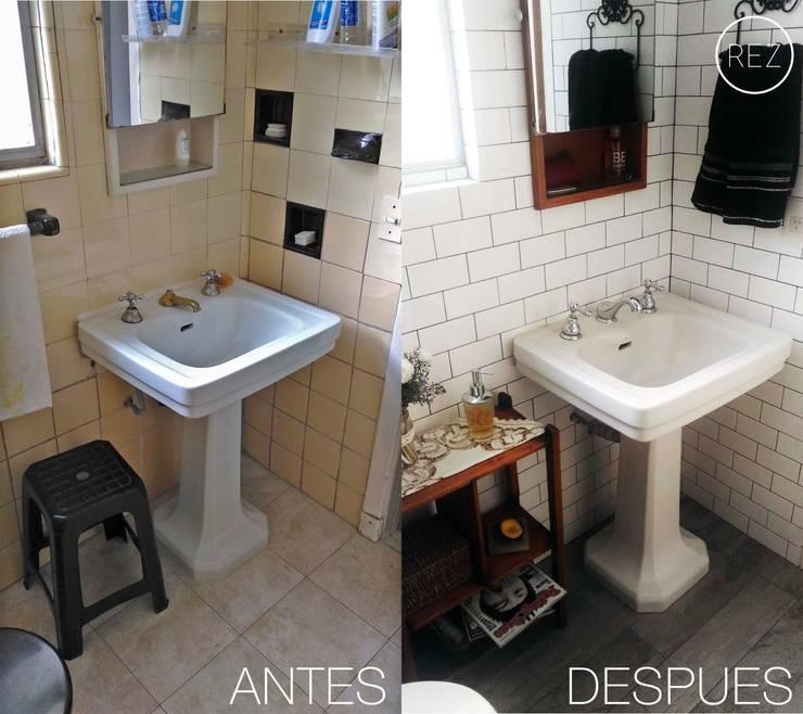REFACCION BAÑO:  de estilo  por REZ  Arquitectura | Diseño | Housing,