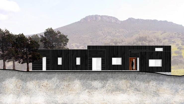 Elevación Principal:  de estilo  por Estudio Arquitectura y construccion PR/ Arquitectura, Construccion y Diseño de interiores / Santiago, Rancagua y Viña del mar