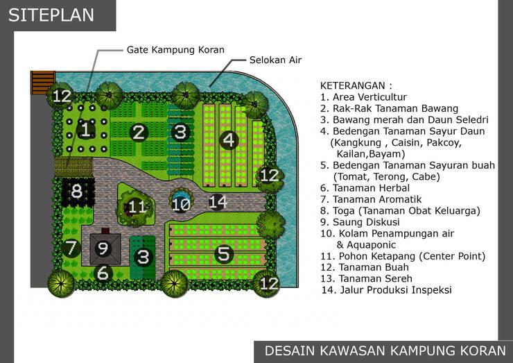Desain Kawasan Kampung Koran:  Garden  by Bengkel Tanaman