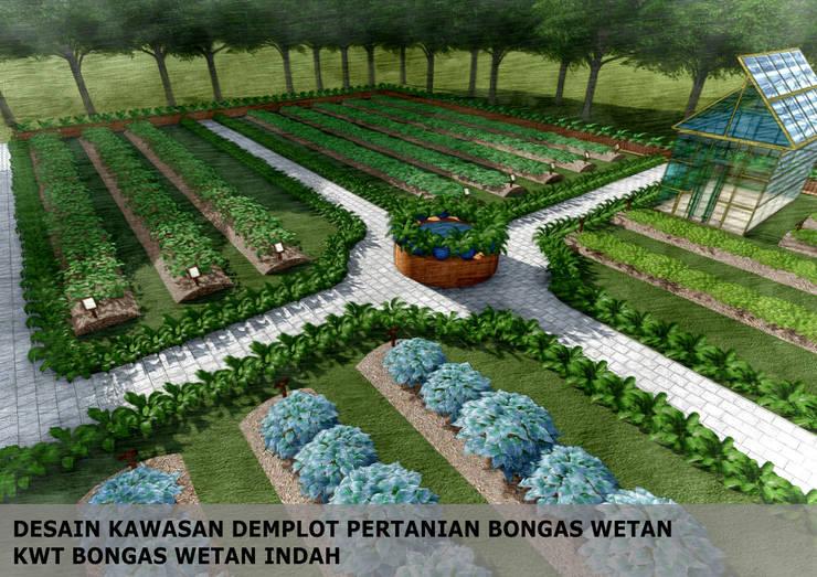 DESAIN DEMPLOT PERTANIAN, KWT BONGAS WETAN:  Garden  by Bengkel Tanaman