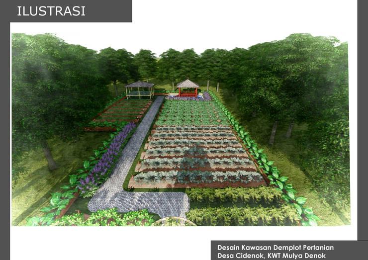 DESAIN KAWASAN DEMPLOT PERTANIAN, KWT BONGAS WETAN:  Garden  by Bengkel Tanaman
