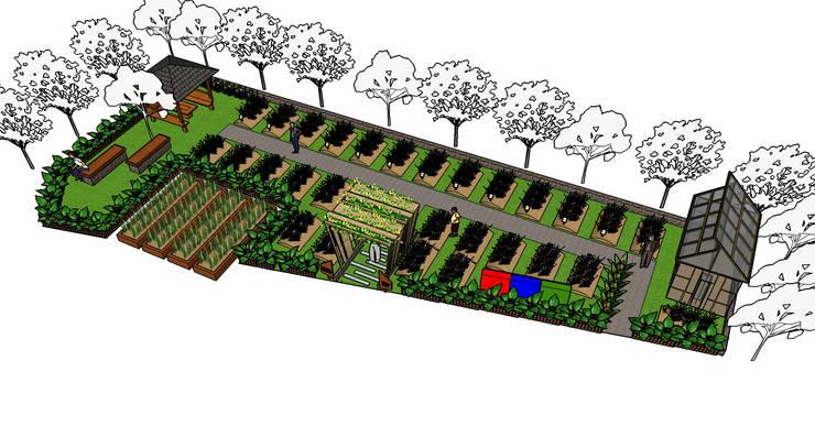 Desain kebun sayur Superindo:  Garden  by Bengkel Tanaman