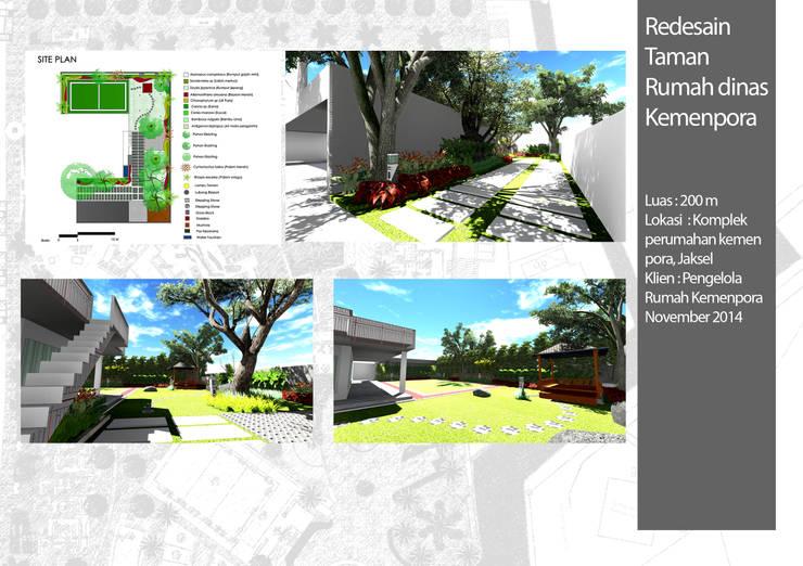 Jardins de fachadas de casas  por Bengkel Tanaman