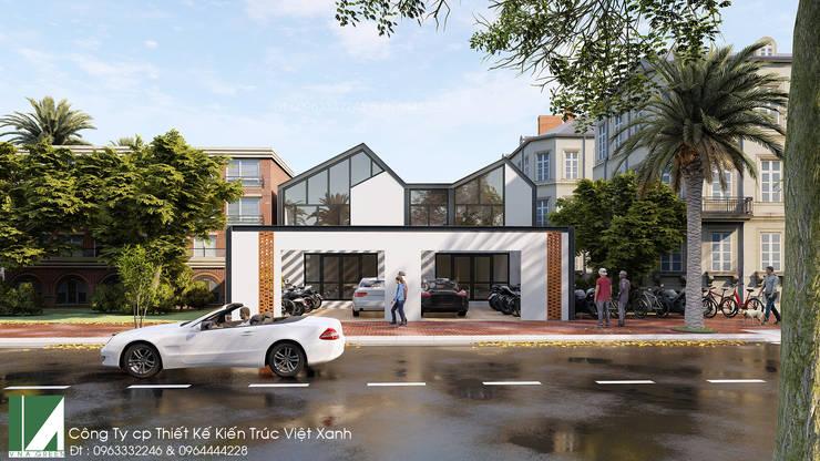 văn phòng 2 tầng kết cấu thép :   by công ty cổ phần Thiết kế Kiến trúc Việt Xanh