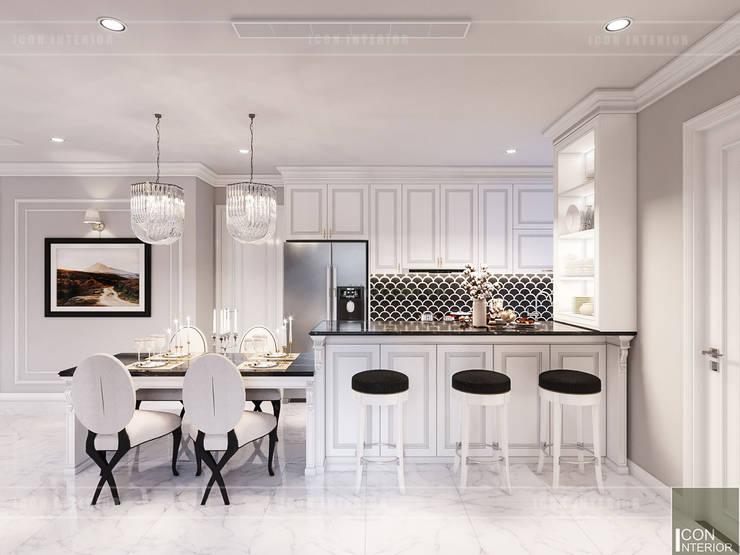 Thiết kế căn hộ Landmark 2 Vinhomes Central Park – Phong cách Tân Cổ Điển:  Phòng ăn by ICON INTERIOR