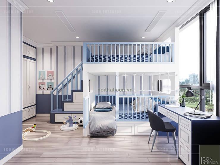 Thiết kế căn hộ Landmark 2 Vinhomes Central Park – Phong cách Tân Cổ Điển:  Phòng trẻ em by ICON INTERIOR