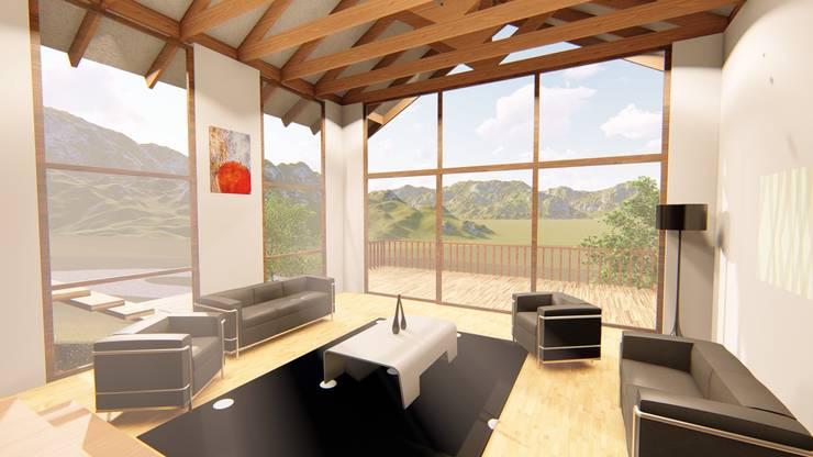 bioclimatica : Balcones y terrazas de estilo  por jose zapiain