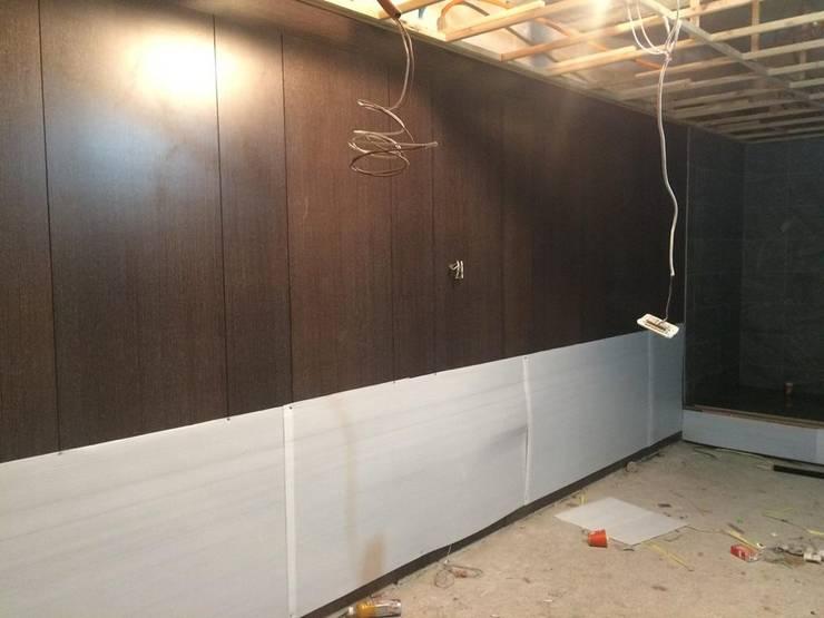 木工包裝完工後之石膏磚牆面:   by 寶瓏室內裝修有限公司