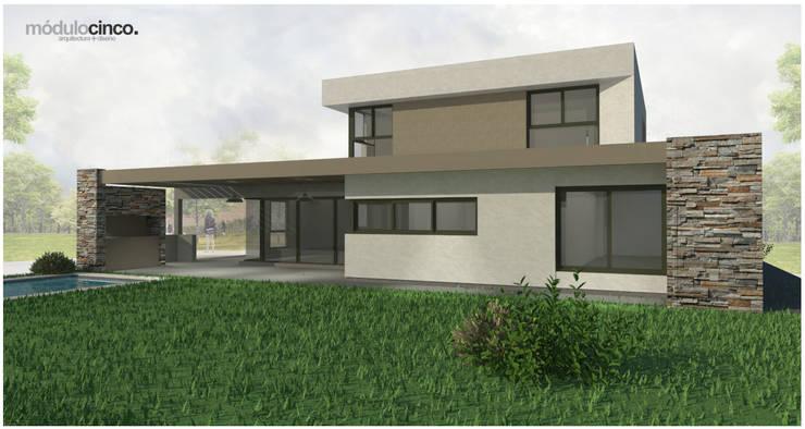   FACHADA NORTE: Casas unifamiliares de estilo  por modulo cinco arquitectura