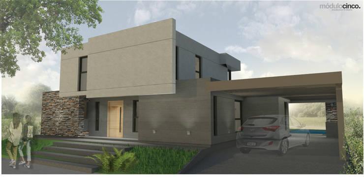   FRENTE: Casas unifamiliares de estilo  por modulo cinco arquitectura