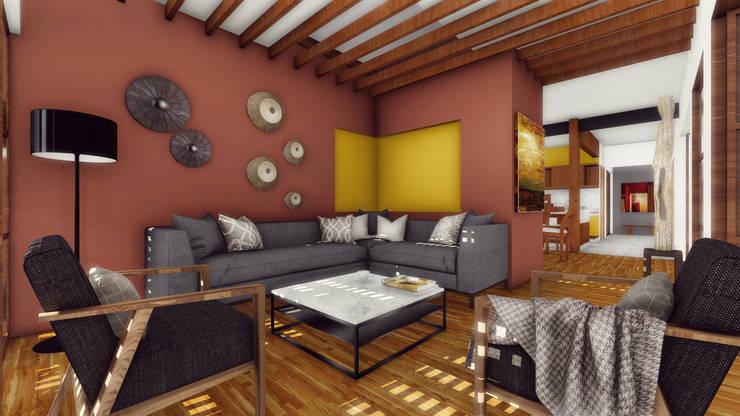 Living room by Taller de Materia Arquitectónica