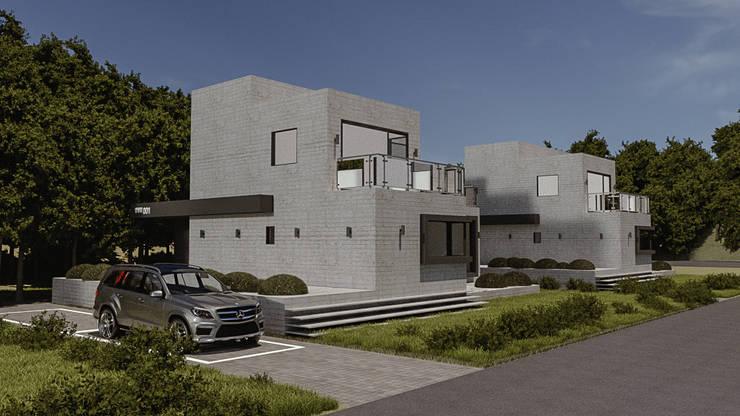 주택-외부 및 파사드: 디자인 이업의  전원 주택,모던 철근 콘크리트