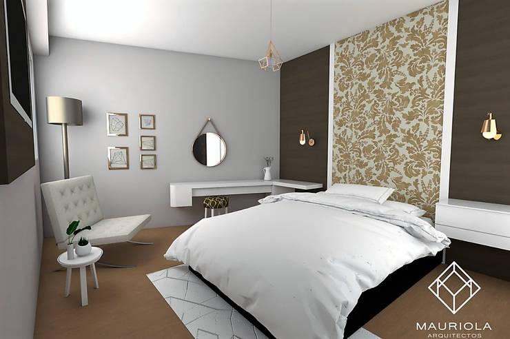 Dormitorio principal : Dormitorios de estilo  por Mauriola Arquitectos