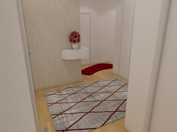 Projeto de Moradia em Barcelos já em Produção: Corredores e halls de entrada  por Atelier Kátia Koelho