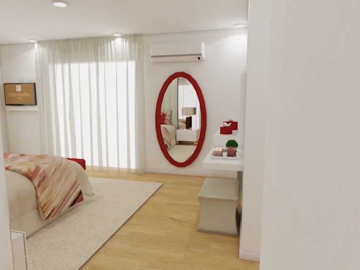 Bedroom by Atelier Kátia Koelho, Modern