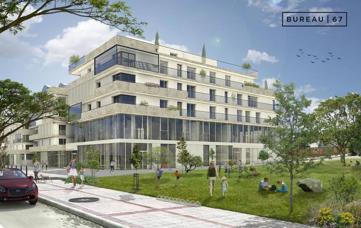 19e405c2319 Perspective 3D d un programme immobilier créer par Geoffrey HEVIN –  perspectiviste freelance