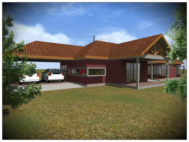 Vivienda Unifamiliar Rural: Casas de campo de estilo  por Vicente Espinoza M. - Arquitecto