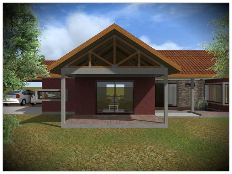 Vivienda Unifamiliar Rural: Casas de estilo  por Vicente Espinoza M. - Arquitecto