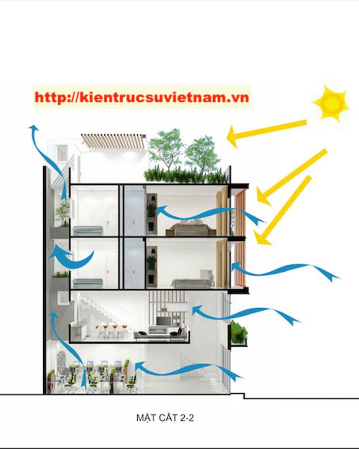 Công trình nhà ống 5 tầng hiện đại Mr Duy Thủ Đức:   by Việt Architect Group
