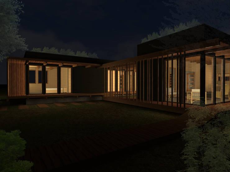 CASA JARDÍN -BUIN: Casas prefabricadas de estilo  por Vicente Espinoza M. - Arquitecto