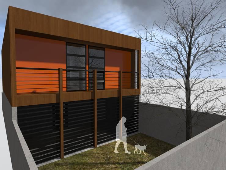 Ampliación Vivienda Social: Casas unifamiliares de estilo  por Vicente Espinoza M. - Arquitecto