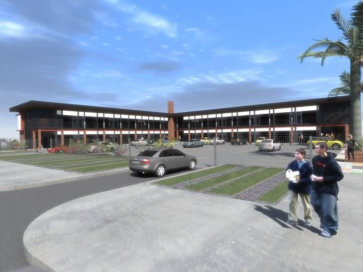 STRIPCENTER MELIPILLA ORIENTE:  de estilo  por Vicente Espinoza M. - Arquitecto