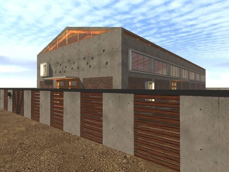 IGLESIA EVANGÉLICA PUDAHUEL:  de estilo  por Vicente Espinoza M. - Arquitecto