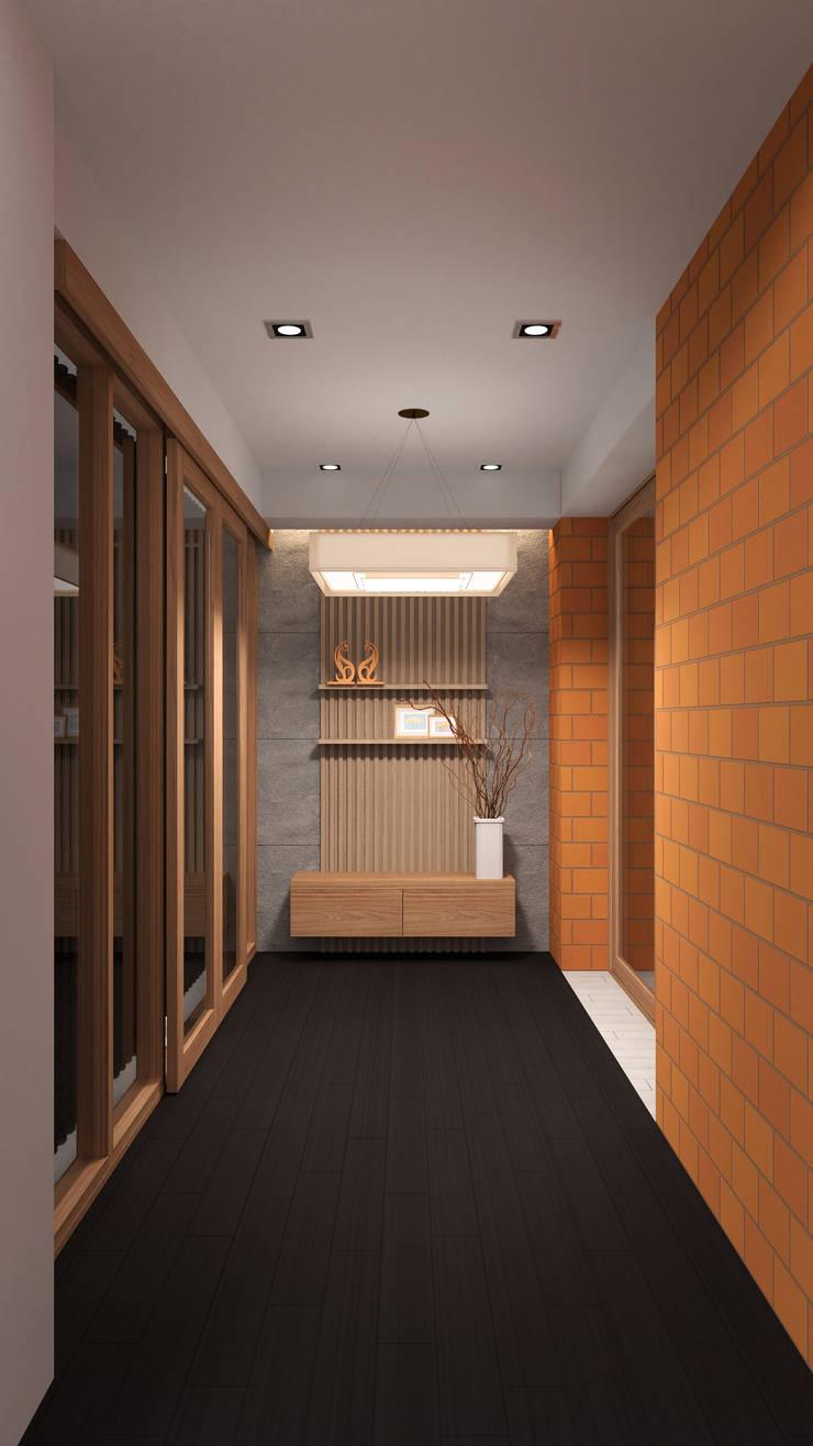 Foyer:   by Pilaster Studio Design