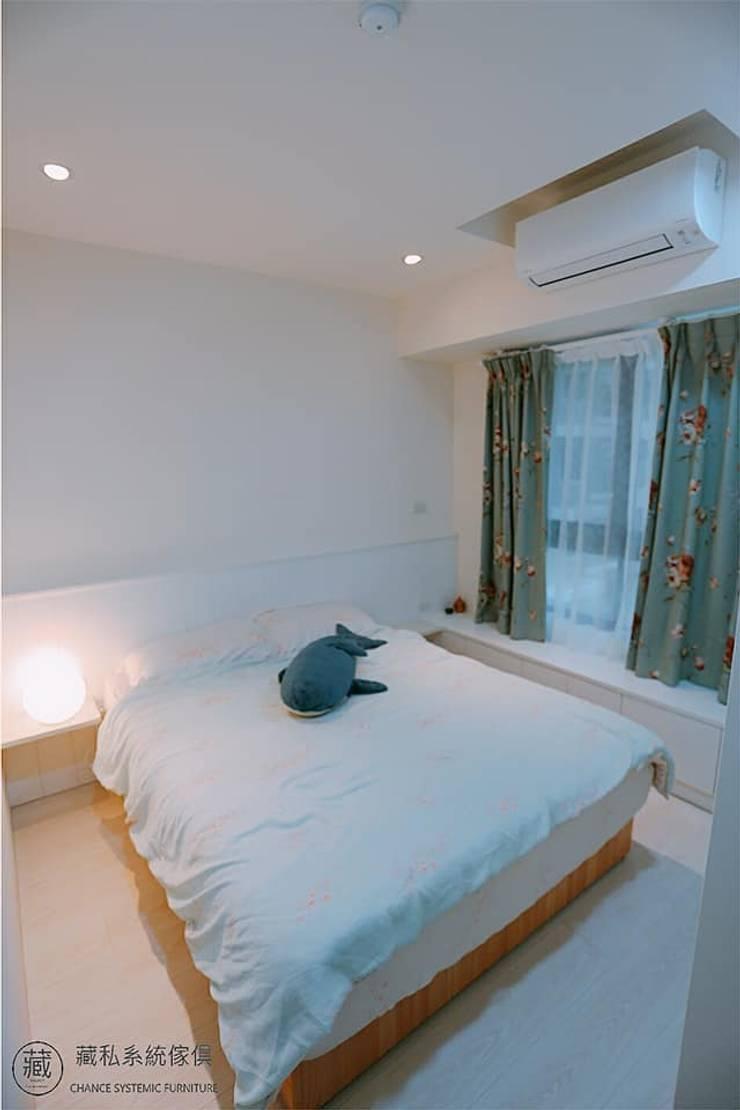 主臥室床頭板與臥榻:  臥室 by 藏私系統傢俱