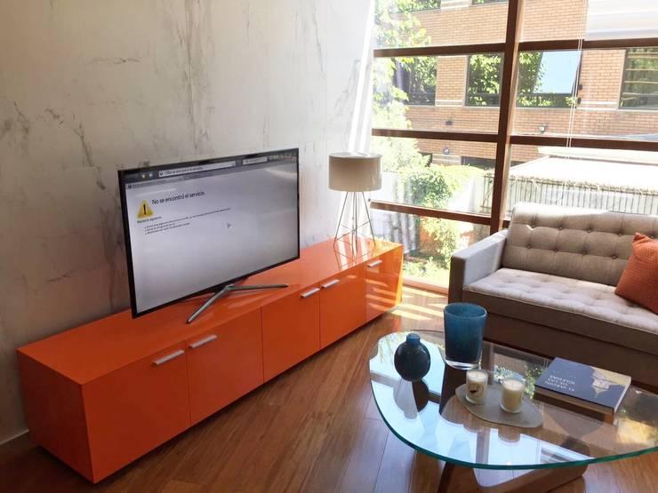 Vista Hall acceso: Oficinas y tiendas de estilo  por Moon Design