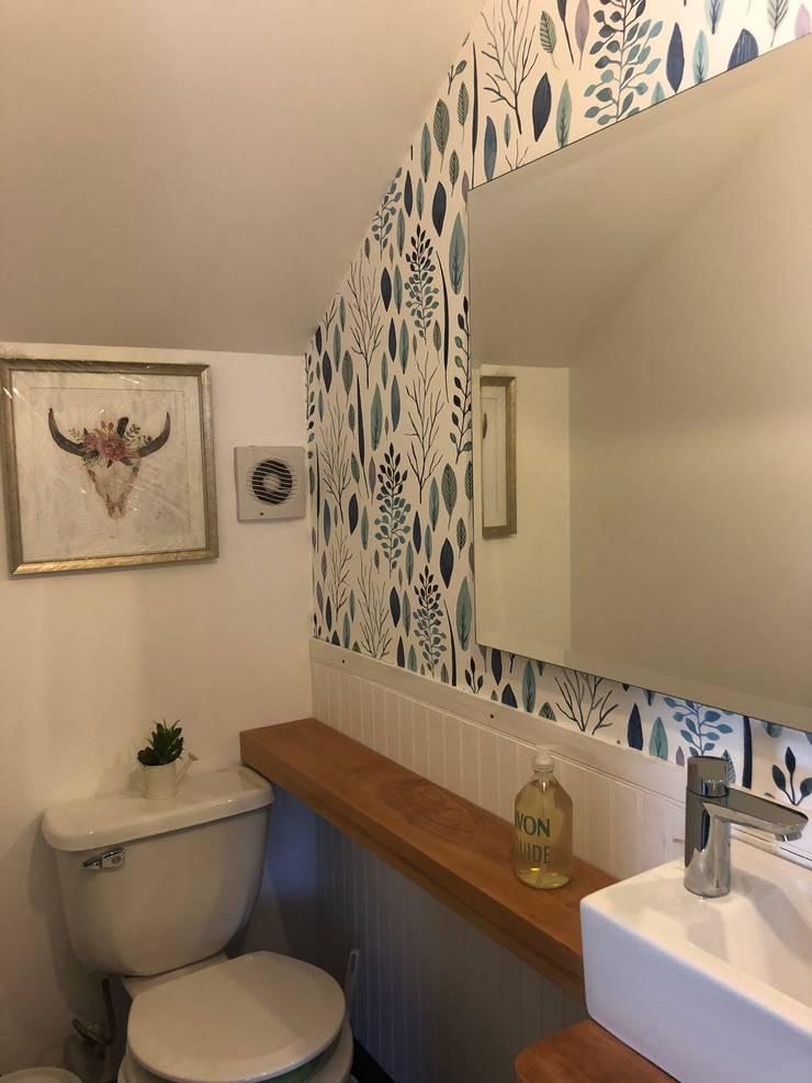 Vista General Baño: Baños de estilo  por Moon Design