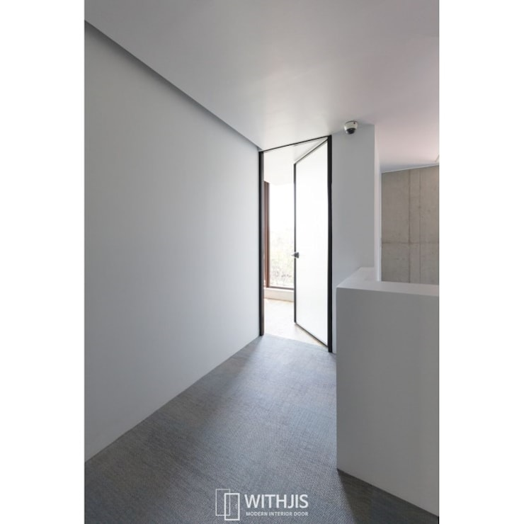 ALU-SW / SW1(편개형 스윙도어1): WITHJIS(위드지스)의  유리 문,모던 알루미늄 / 아연
