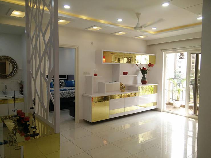 Mr Surajit Aparna cyberzone 3bhk :  Corridor & hallway by Enrich Interiors & Decors