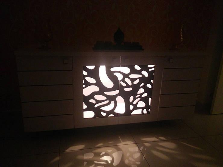 Mr Surajit Aparna cyberzone 3bhk :  Artwork by Enrich Interiors & Decors