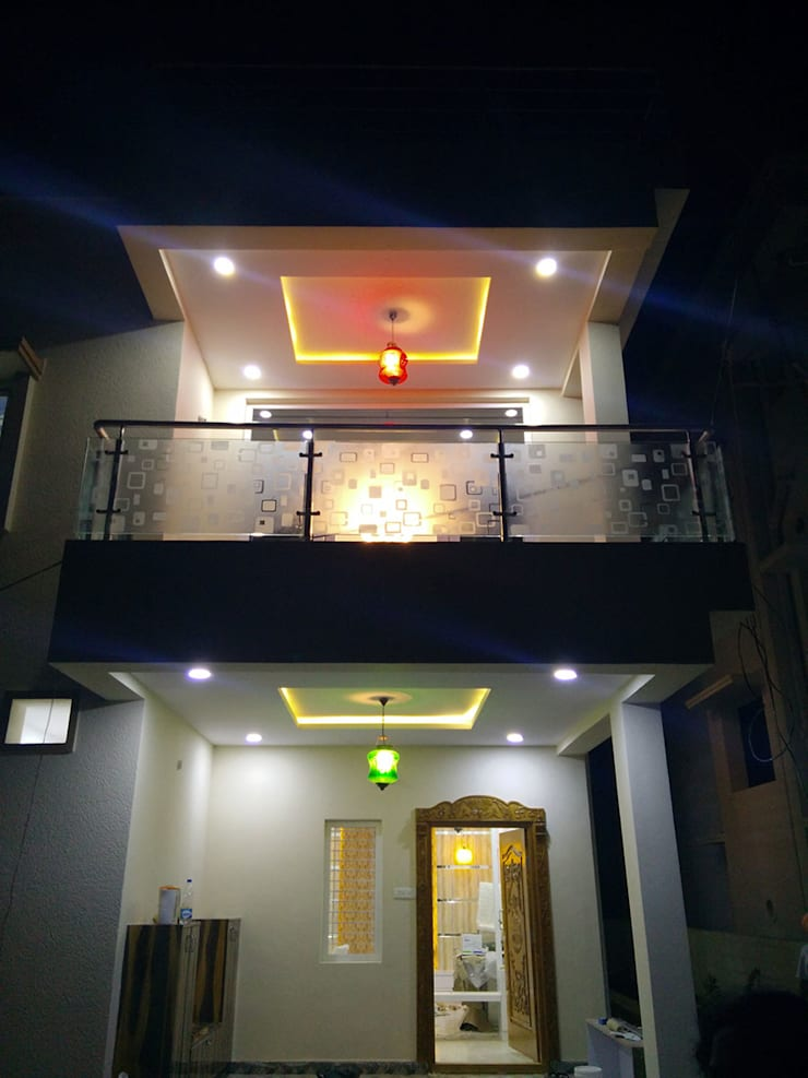 Mr Ravi Kumar PVR Meadows 3BHK Villa:  Interior landscaping by Enrich Interiors & Decors