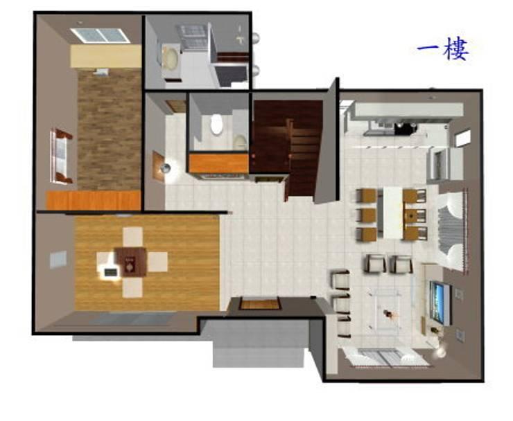 室內一樓平面圖:   by 安居住宅有限公司