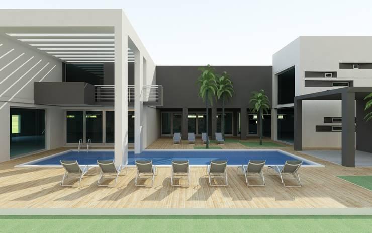 Het portiek :  Gezondheidscentra door MEF Architect, Modern Beton