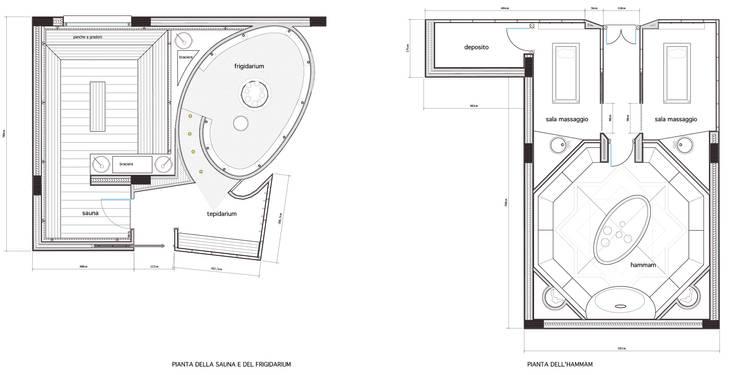 Luxe beauty center en SPA:  Gezondheidscentra door MEF Architect, Modern Keramiek