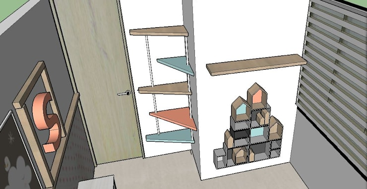Diseño alcoba infantil : Dormitorios de estilo  por TICKTO STUDIO