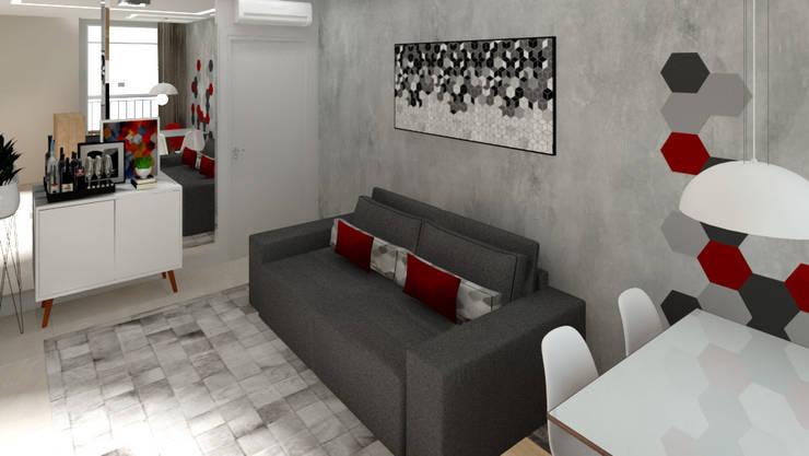 Salones modernos de Bruna Ferraresi Moderno Concreto