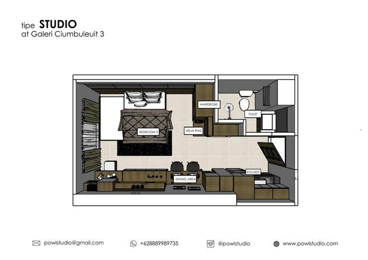 Galeri Ciumbuleuit III – Tipe Studio:   by POWL Studio