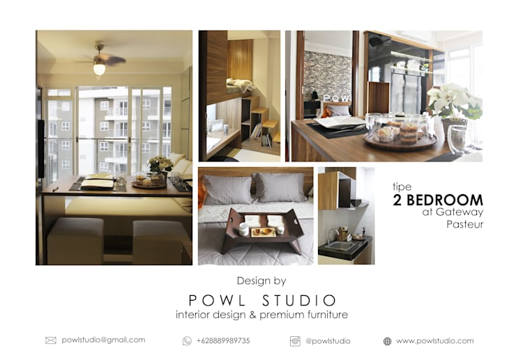 Gateway Pasteur – Tipe 2 Bedroom Jade:   by POWL Studio